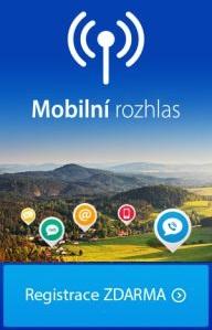 Mobilní rozhlas - registrace