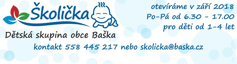 Dětská skupina obce Baška má volné místa