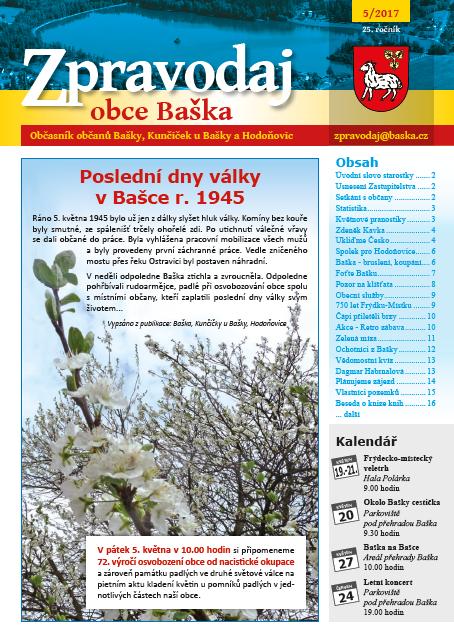 Zpravodaj obce Baška - Květen 2017