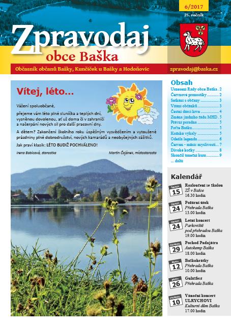 Zpravodaj obce Baška - Červen 2017