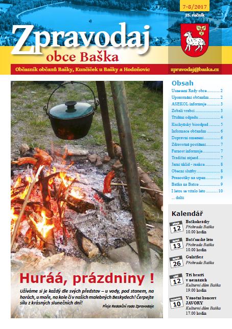 Zpravodaj obce Baška - Červenec/Srpen 2017