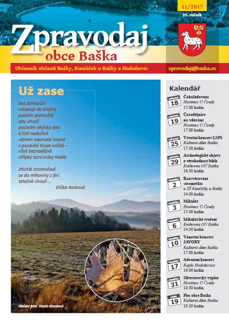 Zpravodaj obce Baška - Listopad 2017