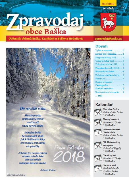 Zpravodaj obce Baška - Leden 2018
