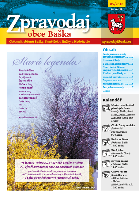 Zpravodaj obce Baška - Květen 2018