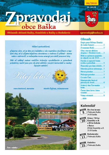 Zpravodaj obce Baška - Červen 2018