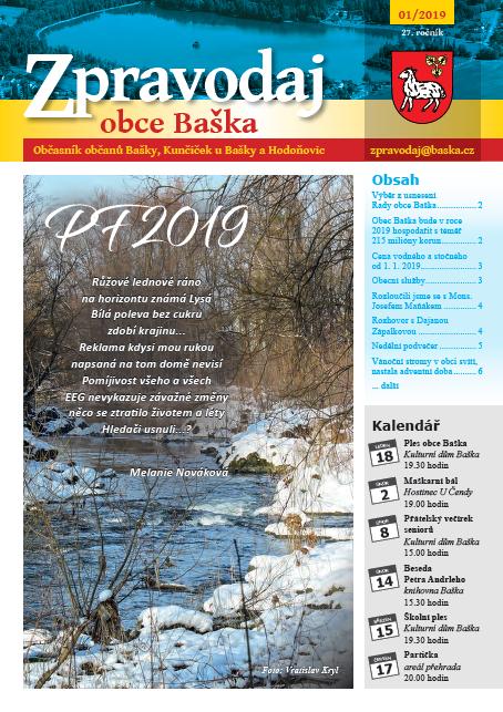 Zpravodaj obce Baška - Leden 2019