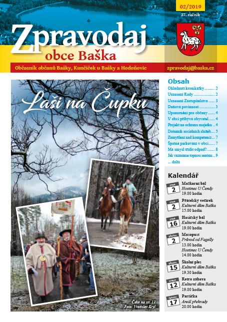 Zpravodaj obce Baška - Únor 2019