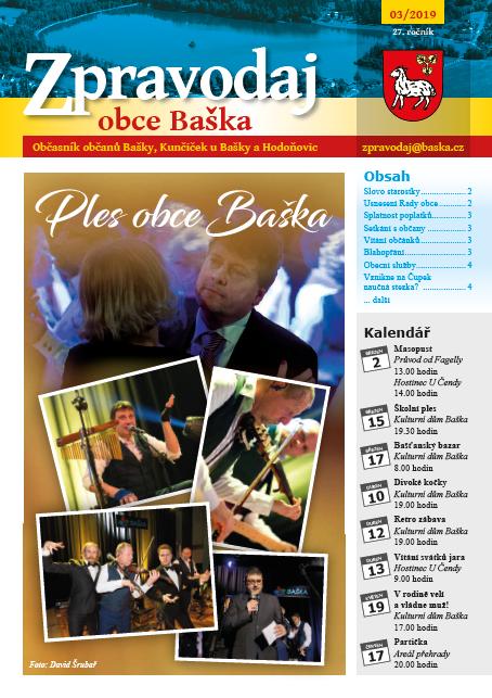 Zpravodaj obce Baška - Březen 2019
