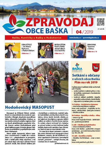 Zpravodaj obce Baška - Duben 2019