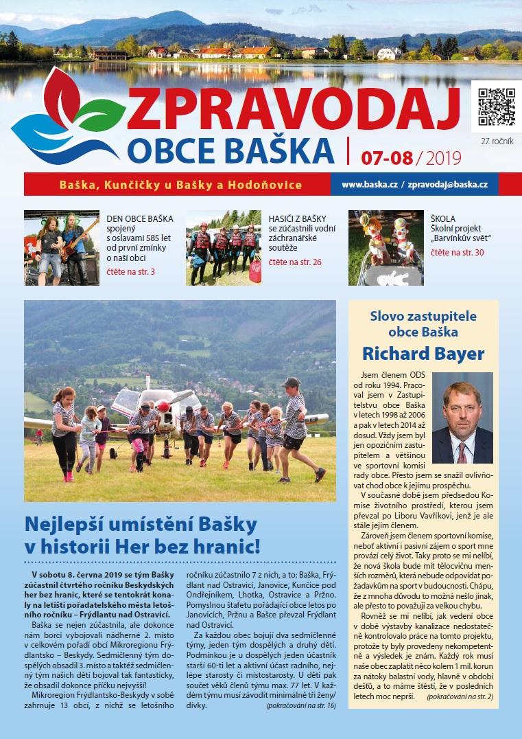 Zpravodaj obce Baška-Červenec/Srpen 2019